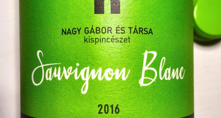Nagy Gábor Sauvignon Blanc 2016, Pázmánd, Etyek-Buda